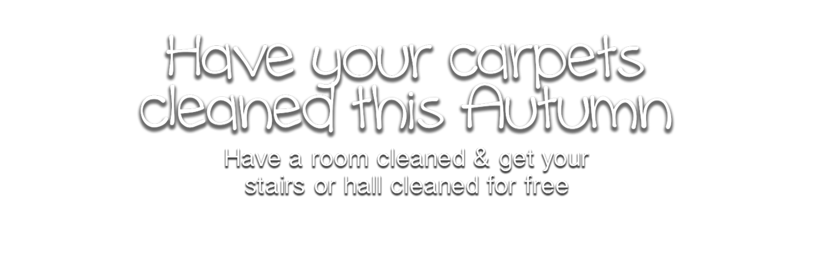 Autumn carpet cleaning offer